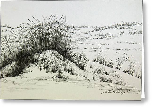 Say Off The Dunes Greeting Card by Ben Vines Jr