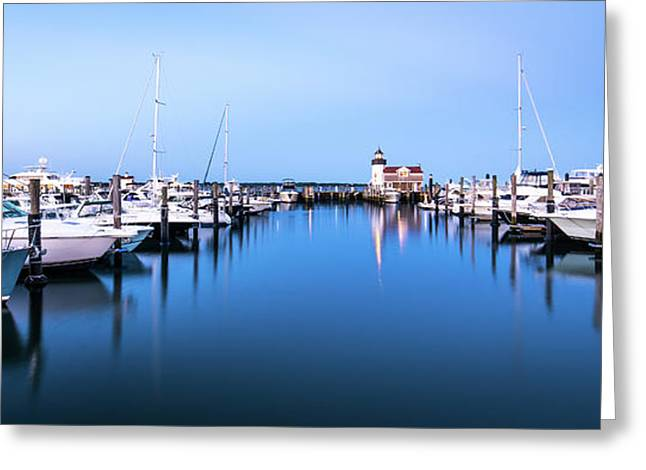 Saybrook Point Marina Greeting Card by Clay Townsend