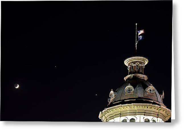 Sc State House Dome And Conjunction Greeting Card