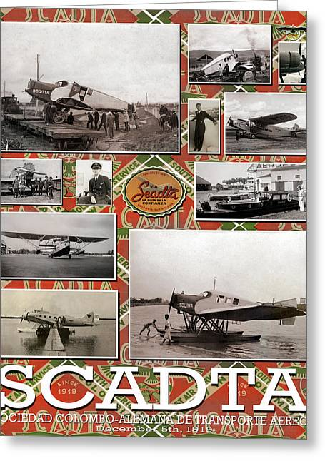 Scadta Airline Poster Greeting Card