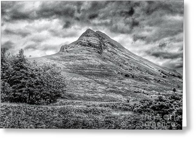 Scafell Pike In Greyscale Greeting Card