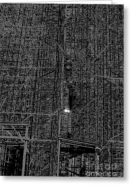 Scaffold And Sun  Greeting Card by Andy  Mercer