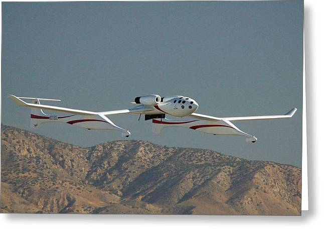 Scaled Composites White Knight Greeting Card by Brian Lockett