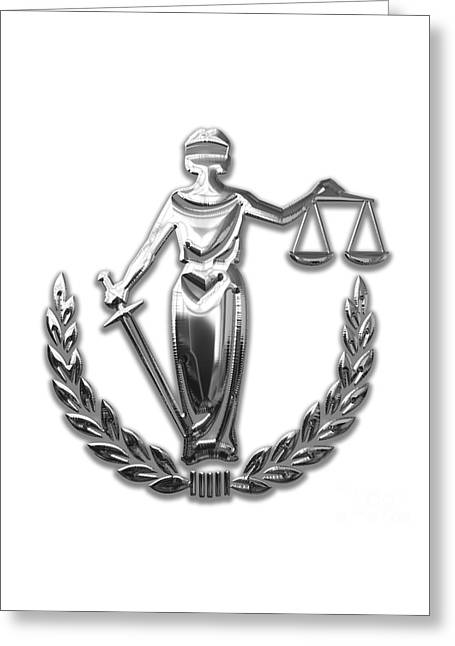 Scales Of Justice Collection Greeting Card by Marvin Blaine