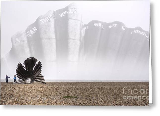 Scallop Sculpture Composite  Greeting Card by Nigel Bangert