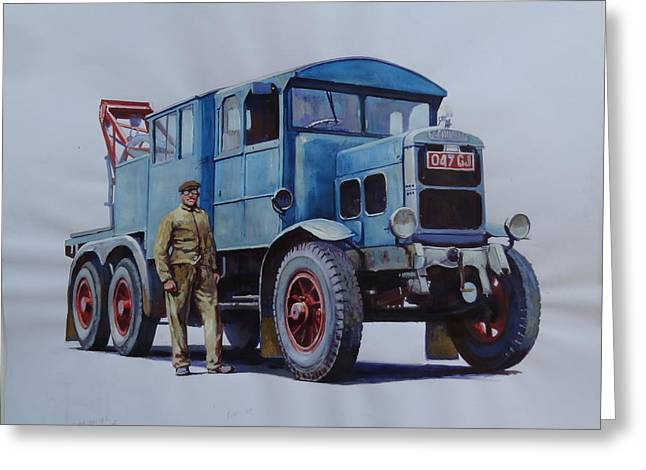 Scammell Wrecker. Greeting Card by Mike Jeffries