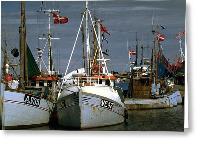 Scandinavian Fisher Boats Greeting Card
