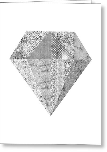Scandinavian Silver Diamond Greeting Card