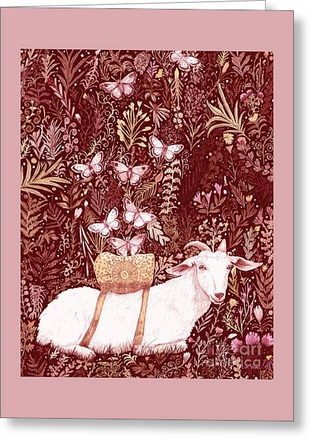 Scapegoat Healing Tapestry Print Greeting Card by Lise Winne