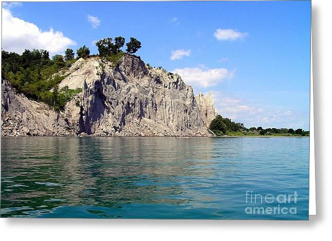 Scarborough Bluffs-lake View Greeting Card by Susan  Dimitrakopoulos