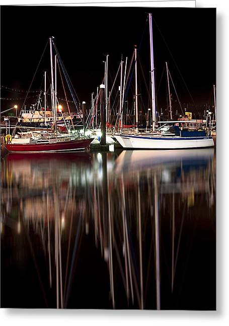 Scarborough Boats Greeting Card by Svetlana Sewell