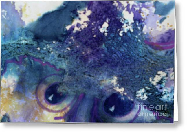 Greeting Card featuring the painting Scarecrow Eyes by Kathy Braud