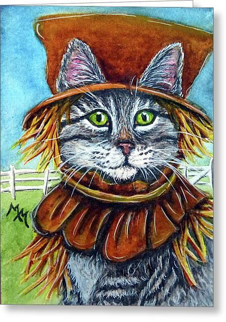 Scarecrow Tabby Greeting Card