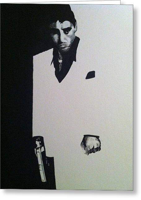 Scarface  Greeting Card by Davor Sintic