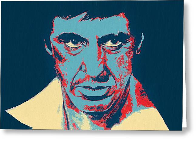 Scarface Pop Art Greeting Card by Dan Sproul