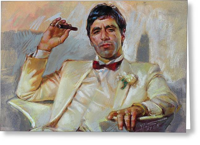 Scarface Greeting Card by Ylli Haruni