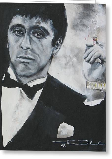 Scarface2 Greeting Card by Eric Dee