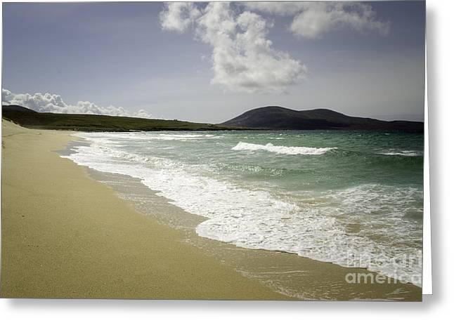 Scarista Beach Greeting Card by Nichola Denny