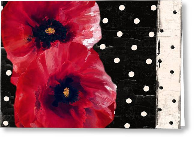 Scarlet Poppies II Greeting Card by Mindy Sommers
