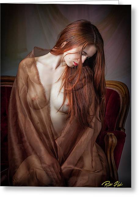 Greeting Card featuring the photograph Scarlet Repose by Rikk Flohr