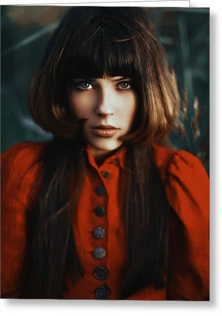 Scarlet Revamp Greeting Card by Alexander Kuzmin
