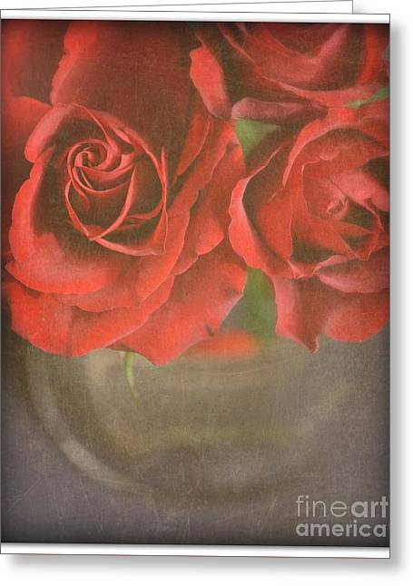 Greeting Card featuring the photograph Scarlet Roses by Lyn Randle