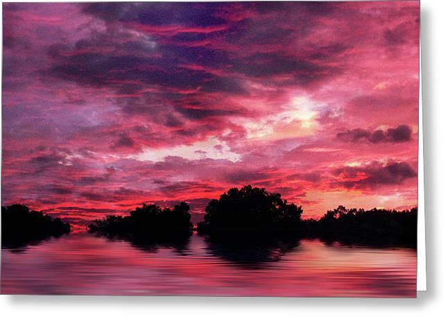 Scarlet Skies Greeting Card by Jessica Jenney