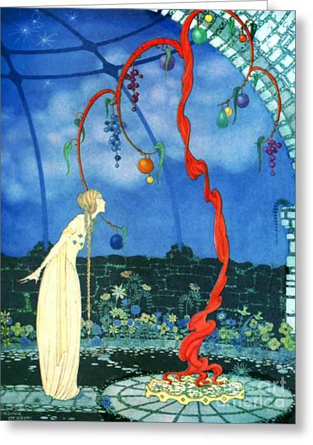 Scarlet Tree 1920 Greeting Card by Padre Art
