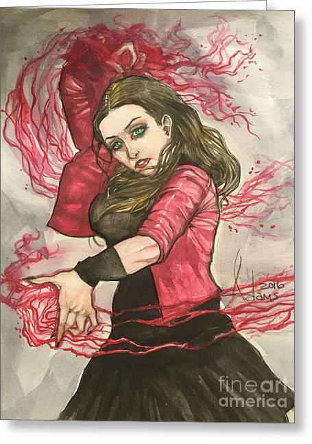 Scarlet Witch  Greeting Card by Jimmy Adams