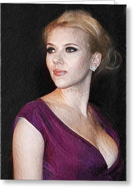 Scarlett Johansson Art Print Greeting Card