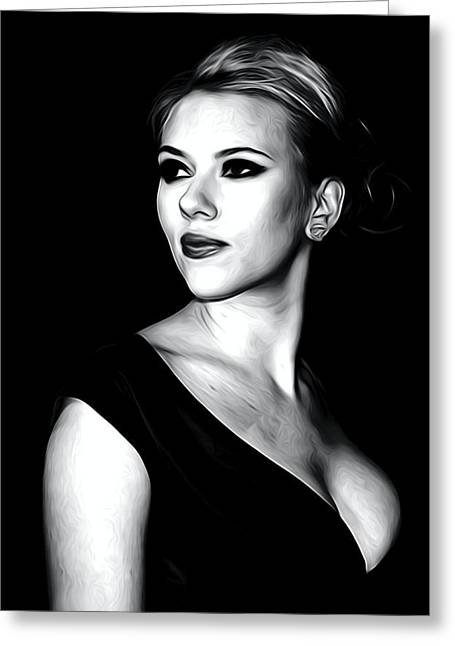 Scarlett Johansson Portrait Greeting Card by Best Actors