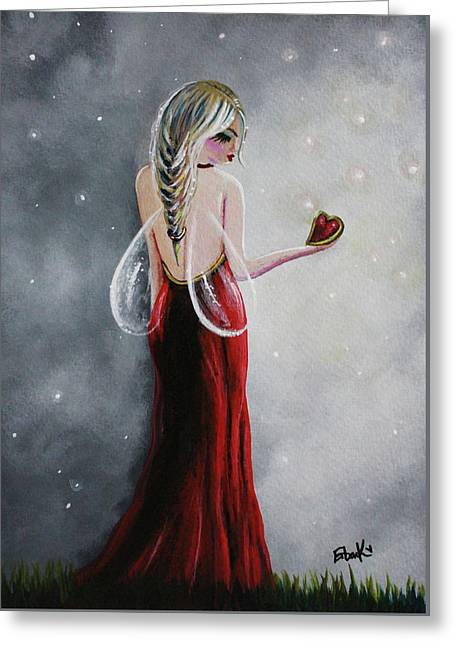 Scarlett - Original Fairy Art Greeting Card