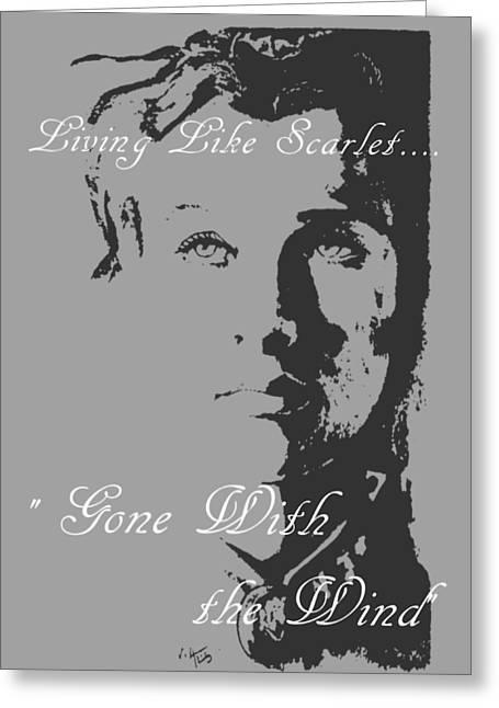 Scarlett Greeting Card by William Walts