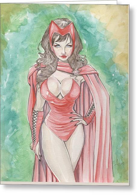 Scarlett Witch Greeting Card