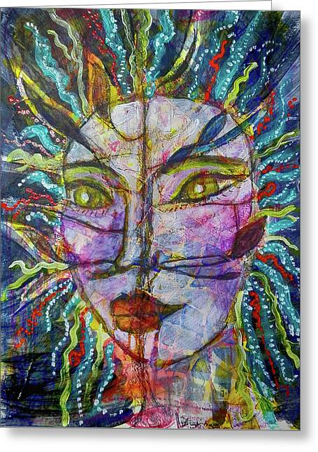 Scarred Beauty Greeting Card