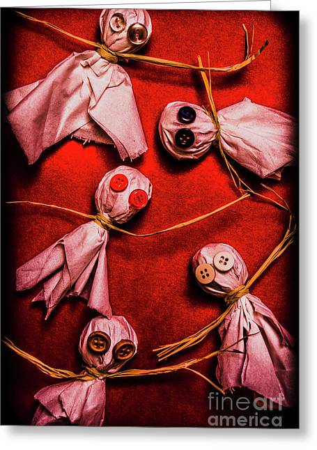 Scary Halloween Lollipop Ghosts Greeting Card