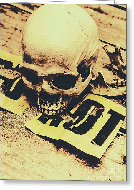 Scary Human Skull Greeting Card by Jorgo Photography - Wall Art Gallery