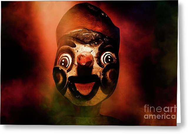 Scary Side Show Puppet Greeting Card by Jorgo Photography - Wall Art Gallery