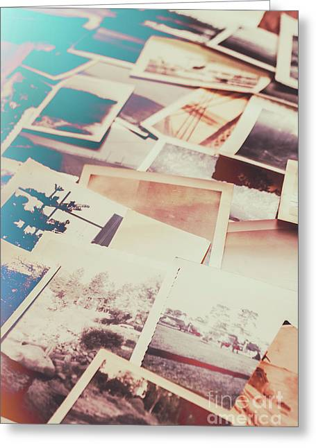 Scattered Collage Of Old Film Photography Greeting Card