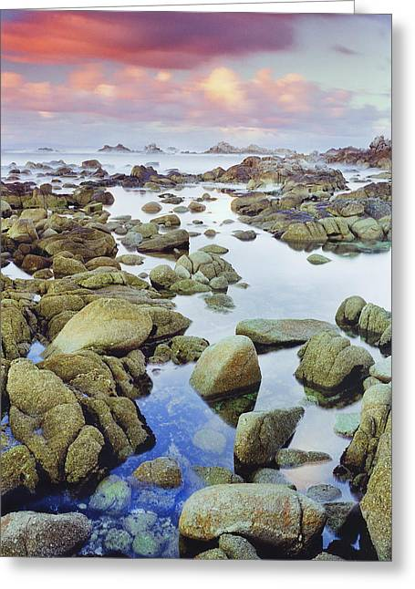 Coast Highway One Greeting Cards - Scattered Rocks Greeting Card by Edward Mendes