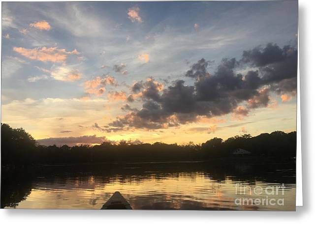 Scattered Sunset Clouds Greeting Card