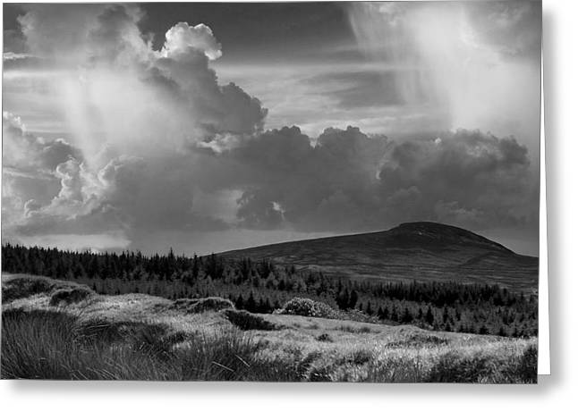 Scattering Clouds Over The Cronk Greeting Card