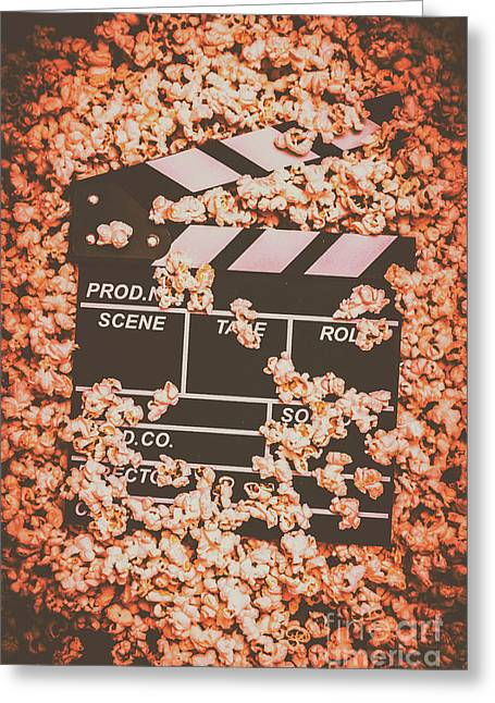 Scene From A Film Production Greeting Card by Jorgo Photography - Wall Art Gallery