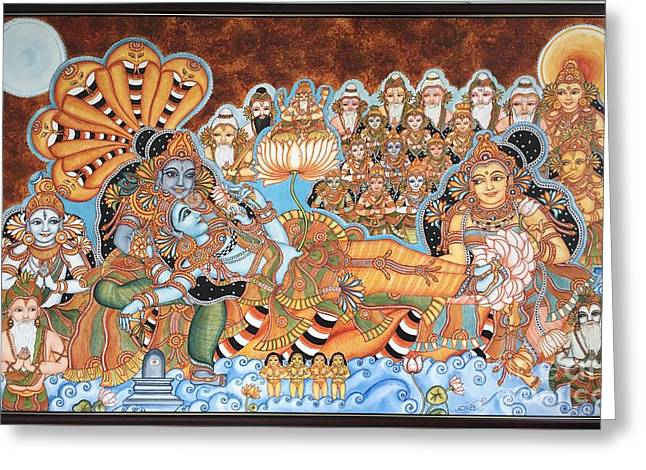 Scene From Haven -ananthashayanam Greeting Card