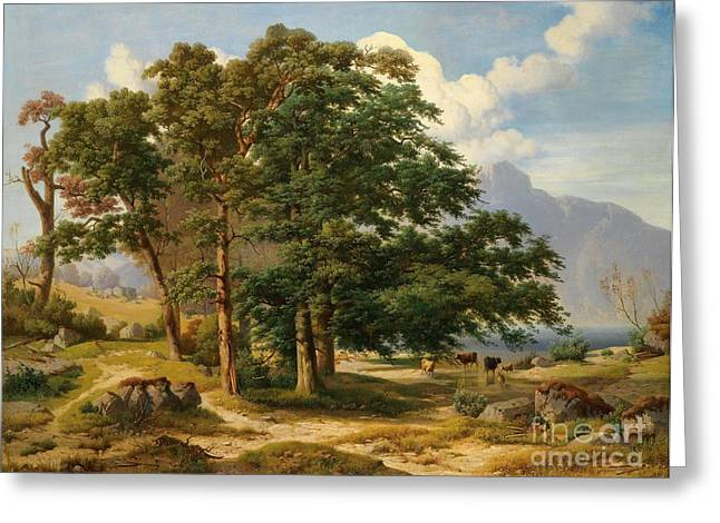 Scene From The Salzkammergut Greeting Card by Celestial Images
