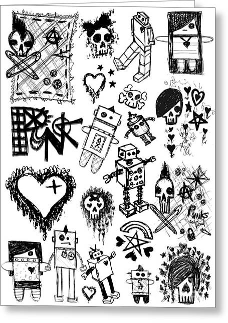 Scene Kid Sketches Greeting Card