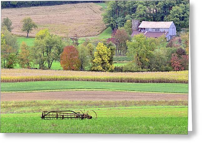 Scenic Amish Landscape 4 Greeting Card