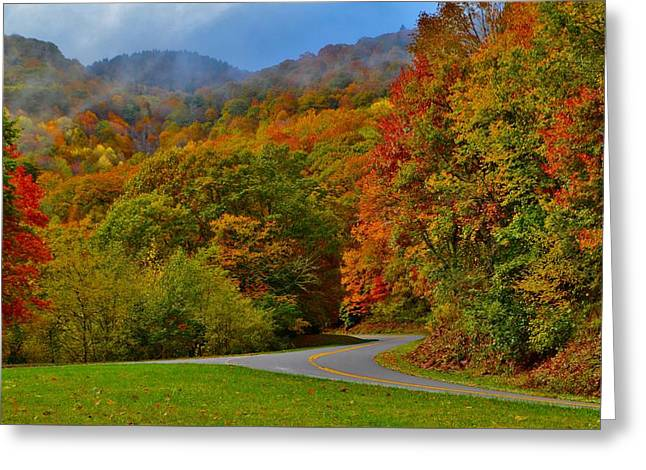 Scenic Drive Greeting Card by Dennis Nelson