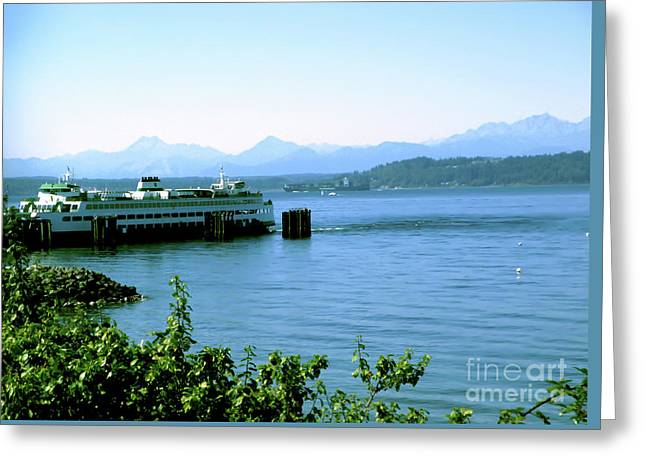 Scenic Ferry Image Greeting Card