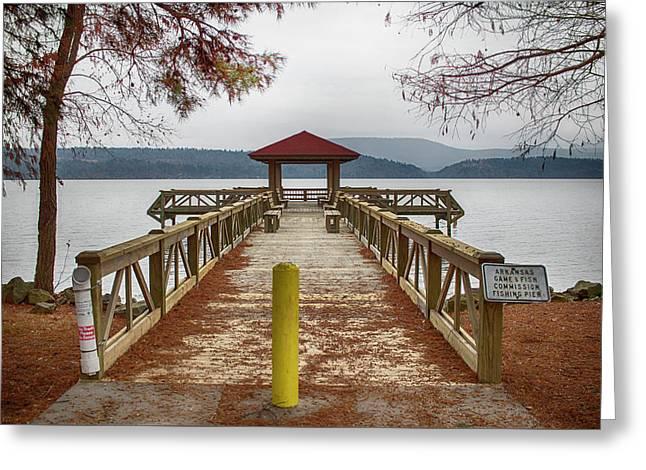 Scenic Lake View Greeting Card